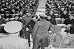 Информагентство Северной Кореи ЦТАК опубликовало фотографии ареста одного из самых могущественных людей КНДР – дяди северокорейского лидера, зампреда Государственного комитета обороны Чан Сон Тхэка. «Чан и его сторонники совершили уголовные преступления, поражающие воображение», – сообщало агентство (фото: EPA/ИТАР-ТАСС)