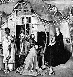 Иероним Босх. Поклонение волхвов, ок. 1510