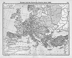 Византийская империя к 1000 году (Shepherd, William: Historical Atlas. New York: Henry Holt and Company, 1911)