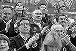 Владимир Путин по достоинству оценил выступления, а позднее поздравил не только российских, но и канадских фигуристов, которые стали призерами в командных соревнованиях (фото: ИТАР-ТАСС)