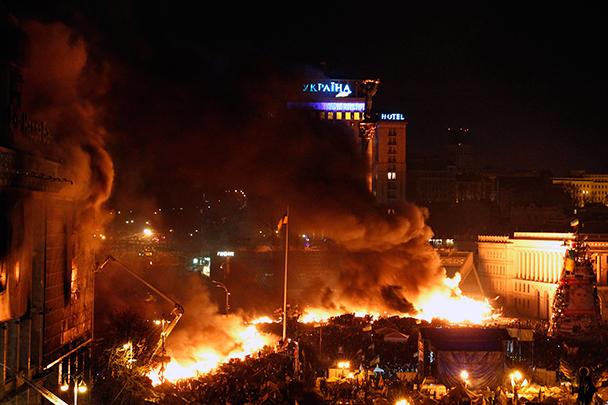 Освобождено здание гостиницы «Украина» в Киеве