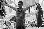 Участник массовых акций протеста в Венесуэле (фото: ИТАР-ТАСС)