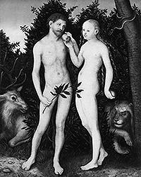 «Адам и Ева в Эдеме», Лукас Кранах Старший, 1528