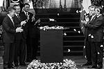 Президент Колумбии Хуан Мануэль Сантос (слева) и его мексиканский партнер Энрике Пенья Нието (справа) возглавили церемонию прощания (фото: Reuters)