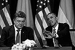Президент Обама в ходе визита в Польшу впервые встретился с избранным президентом Украины Петром Порошенко. Он заявил, что США «никогда не согласятся с оккупацией Россией Крыма или нарушением суверенитета Украины» (фото: Reuters)