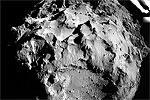 Исторический снимок. На фото – момент первого в истории приземления сделанного человеческими руками аппарата на поверхность ядра кометы. Европейский космический модуль «Фила» совершил это на расстоянии пятисот миллионов километров от Земли (фото: ESA/Rosetta/Philae/ROLIS/DLR)