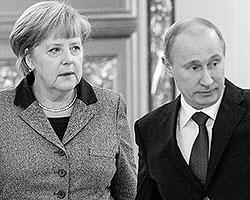 Приписываемая Меркель фраза о том, что Путин потерял связь с реальностью, вызывает желание ответить, что связь с реальностью потеряли как раз те еврочиновники и европолитики, которые уверились в модели мира по Фукуяме (Фото: Maxim Shemetov/Pool/EPA/ТАСС)