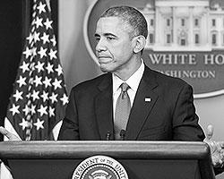 Год 2014-ый можно назвать Годом Америки: все как обычно - пара нападений на суверенные государства, пара провокаций с сотнями жертв, пытки, убийства и очередной плохо играющий Клинта Иствуда президент (Фото: Michael Reynolds/EPA/ТАСС)