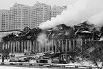 Работы по ликвидации пожара в ИНИОН продолжались почти сутки (фото: Михаил Метцель/ТАСС)