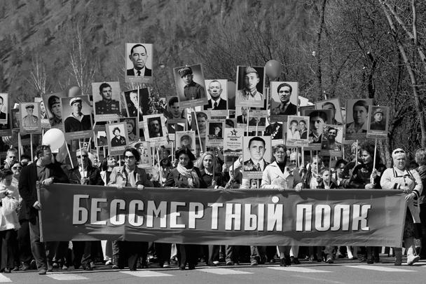 В Дивногорске (Красноярский край) в акции «Бессмертный полк» также прошло шествие