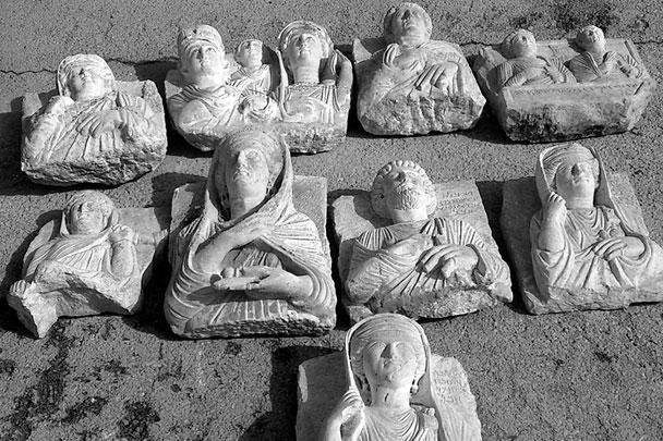 Эти археологические артефакты были незаконно вывезены с территории сирийской Пальмиры