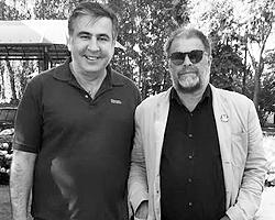 Михаил Саакашвили и Борис Гребенщиков (фото: facebook.com/SaakashviliMikheil)