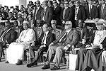 На церемонии открытия присутствовало много высокопоставленных гостей из других стран, в том числе премьер-министр России Дмитрий Медведев (фото: Stringer/Zuma/ТАСС)