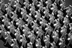 На праздник вышли не только военные с оружием. Выступили и барабанщики Киевского военного лицея имени Богуна (фото: facebook.com/president.gov.ua)