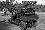 Согласно заявленным Аваковым характеристикам, «Стугна-П» была создана на базе CF Moto Tracker (квадроцикл с 800-кубовым двигателем мощностью 62 л.с.). Она может развивать скорость до 105 км/ч. Стреляет 100-мм снарядами на 5 км и может нести тандемно-кумулятивный боеприпас в 24,5 кг. При этом бронебойность машины составляет не менее 550 мм (фото: facebook.com/arsen.avakov.1)