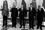 Лидеры стран БРИКС сделали общую фотографию (фото: Михаил Климентьев/пресс-служба президента РФ/ТАСС)