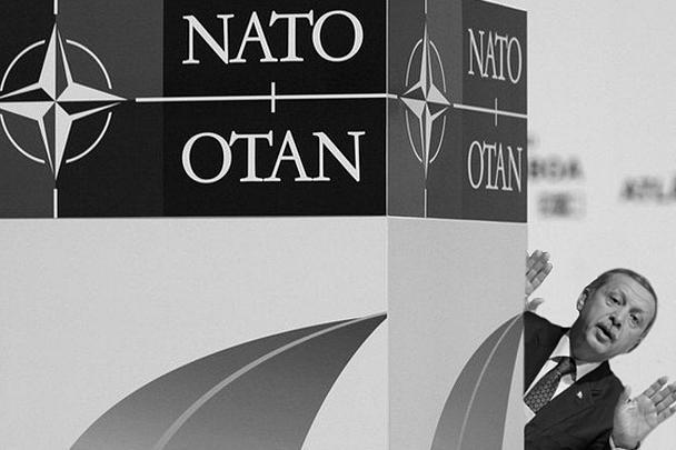 Также креативно продемонстрировали, как Эрдоган прикрывает свои действия членством страны в НАТО
