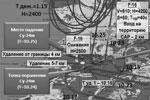 На схеме обозначены точки поражения и падения Су-24 – обе находятся на сирийской территории. Турецкий же истребитель для поражения российского бомбардировщика нарушил границу (фото: пресс-служба Министерства обороны РФ)