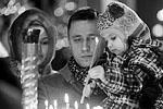 Верующие во время Рождественского богослужения в Казанском соборе Санкт-Петербурга (фото: Александр Демьянчук/ТАСС)