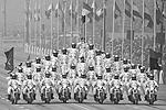 Индийские солдаты проехались на мотоциклах по индийской столице в особом порядке (фото: Bernat Armangue/AP/ТАСС)