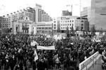 Жители Красноярска собрались на площади с транспарантами и флагами, в том числе в цвете георгиевской ленточки, которая стала своеобразным символом «крымской весны». Мероприятия посетили 10500 человек (фото: фото предоставлено организатором акции)