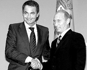 Президент России Владимир Путин в пятницу в своей сочинской резиденции Бочаров Ручей встретился с премьер-министром Испании Хосе Луисом Сапатеро