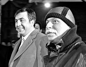 Президент Грузии Михаил Саакашвили и президент Национального олимпийского комитета Грузии Бадри Патаркацишвили