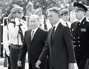 Президент России Владимир Путин и президент Португалии Анибал Каваку Силва
