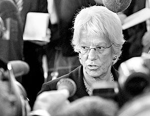Карла дель Понте в последний раз выступила на открытом заседании Совета Безопасности ООН