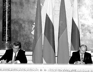 Владимир Путин сообщил, что во время переговоров с Виктором Ющенко удалось достичь договоренности по газу