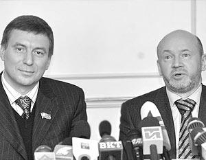 Председатель МГД Владимир Платонов и его зам Андрей Метельский