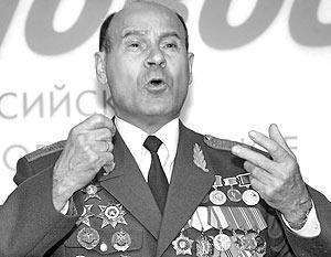 Президент Международной общественной организации инвалидов Чернобыля генерал-майор Николай Тараканов