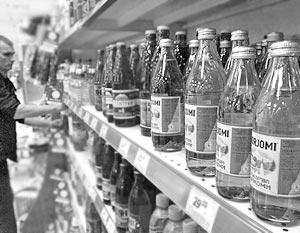 В Латвии продается минеральная вода Borjomi, которая добывается в Грузии из трех различных скважин