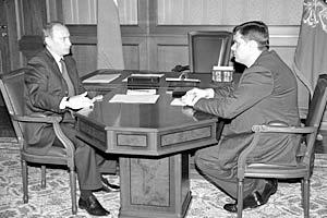 Президент России Владимир Путин и генеральный директор ОАО «Северсталь» Алексей Мордашов