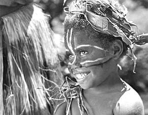 Счастливая девочка государства Вануату