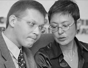 Ирина Хакамада и Владимир Рыжков