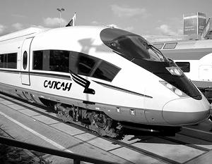 Бумажная модель поезд Сапсан.