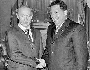 Президент России Владимир Путин и президент Венесуэлы Уго Чавес
