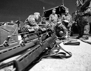 Бундесвер доведен до такой нищеты, что на учениях некоторым солдатам раздают палки вместо автоматов