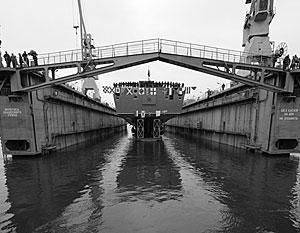 «Адмирал Горшков» был спущен на воду на «Северной верфи» в Петербурге