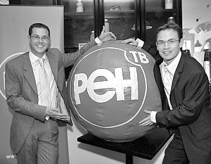 Генеральный директор медиахолдинга REN TV Александр Орджоникидзе и заместитель генерального директора медиахолдинга REN TV Ральф Сибеналер