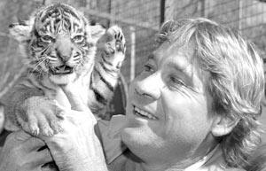 Знаменитый австралийский ведущий телепередач о животных Стив Ирвин