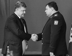 Петр Порошенко считает Валерия Кондратюка (справа) генералом нового типа
