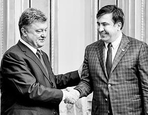 Петр Порошенко успел поблагодарить Михаила Саакашвили за первые шаги на посту губернатора Одесской области
