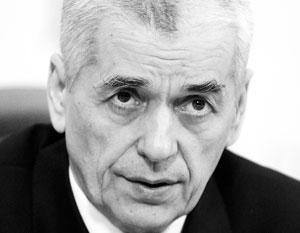 Онищенко опроверг сообщение Скворцовой о 80-процентном росте трезвости в России