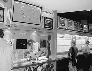 Один из постоянных клиентов компании МСТВ - сеть букмекерских контор - располагает свои заведения.