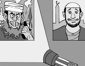 Египетская газета опубликовала высмеивающие жителей Запада карикатуры