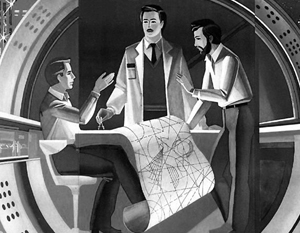 Плакаты советского времени напоминают нам и о советских успехах в науке. Президент считает необходимыми «проекты, сопоставимые с теми, которые уже были в нашей истории»