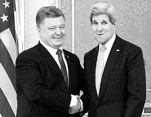 Керри напомнил Порошенко о специальном статусе Донбасса