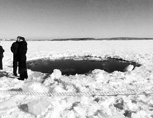 Водолазы не нашли следов метеорита в челябинском озере